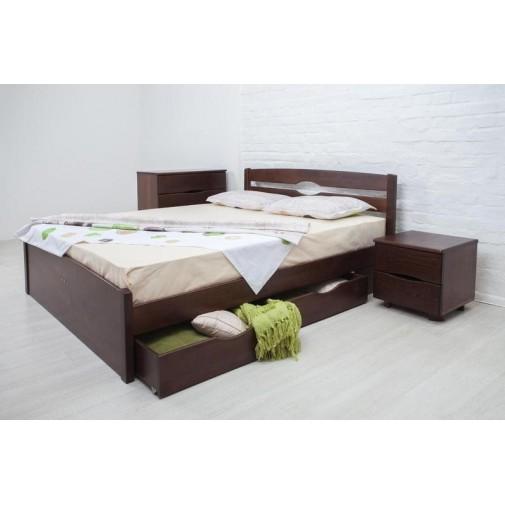 """Деревянная кровать Олимп """"Лика LUX с ящиками""""  (для современной спальни)"""