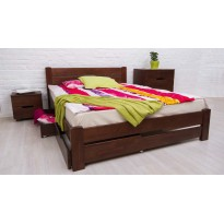 """Кровать деревянная """"Айрис"""" Олимп с выдвижными ящиками (с местом для хранения)"""