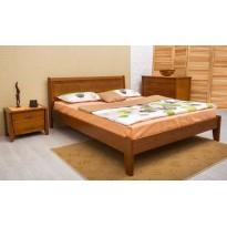 """Кровать деревянная """"Сити"""" без изножья с интарсией Олимп"""