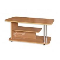"""Журнальний столик """"Ліра"""" Пехотін (прямокутний з хромованим елементом)"""