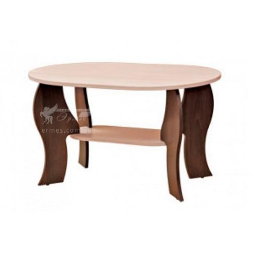 """Журнальний столик """"Соната"""" Пехотін (овальний з додатковою поличкою)"""