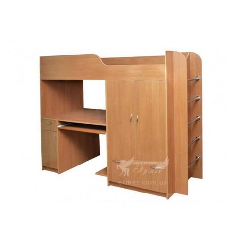 """Кровать двухъярусная """"Дуэт 1"""" Пехотин (со шкафом и лестницей)"""