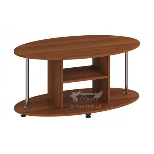 """Журнальний столик """"Марс"""" МДФ Пехотін (з додатковими полицями)"""