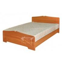 """Кровать двуспальная 160 """"Гера"""" Пехотин (с невысоким изголовьем)"""