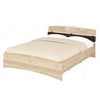 """Ліжко двоспальне """"Мілана"""" Кр-160 Пехотін (з невісоким узголів'ям)"""