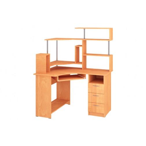 """Компьютерный стол """"Компакт"""" с надстройкой Пехотин (угловой с открытыми полками)"""