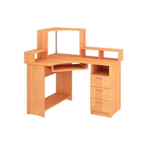 """Компьютерный стол """"Лидер"""" Пехотин (угловой с открытой надстройкой)"""