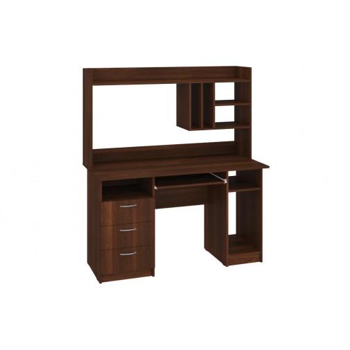 """Компьютерный стол """"Оскар"""" с надстройкой Пехотин (прямой с высокой надстройкой)"""