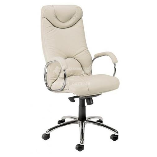 Крісло ELF steel MPD AL68 Новий-Стиль (для керівника з м'якими підлокітнікамі и підголовніком)