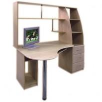 """Комп'ютерний стіл """"Комфорт"""" Просто Меблi (з відкрітою надбудовою)"""