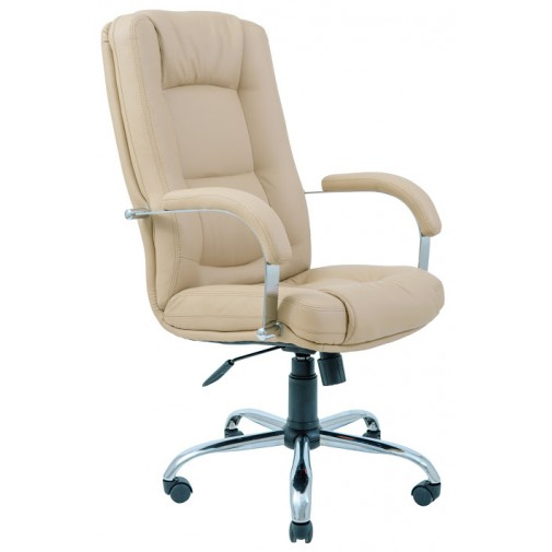 """Кресло """"Альберто"""" хром RICHMAN (на хромированной базе с мягкими подлокотниками)"""