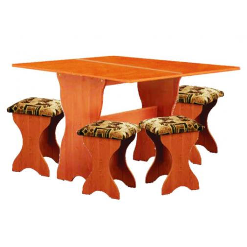 Стол кухонный раскладной + 4 табурета РТВ мебель