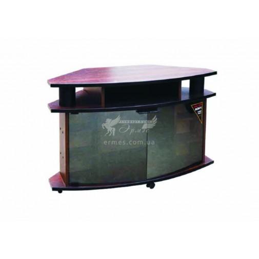 Тумба под телевизор РТB - 11 РТВ мебель (угловая с стеклянными дверцами)
