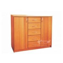 Комод 2х5 МДФ РТВ меблі (з дверцятами та шухлядою)