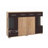 Комод 29 РТВ мебель (широкий со стеклянными вставками)