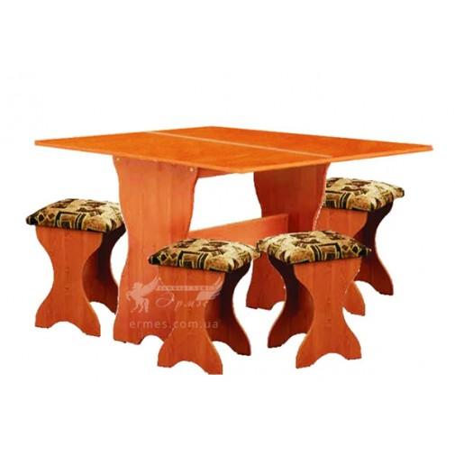Стол кухонный раскладной + 4 табурета РТВ мебель (набор мебели)