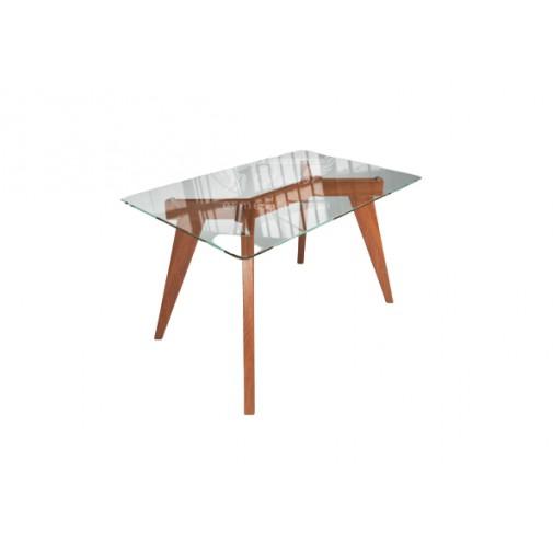 """Стол стеклянный на деревянных ногах """" Леонардо"""" Sentenzo"""