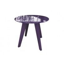 """Стол стеклянный """"Леонардо круг Фиолетовый"""" Sentenzo"""