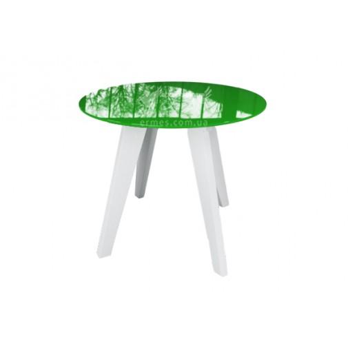 "Стол стеклянный ""Леонардо круг Зелено-белый"" Sentenzo"
