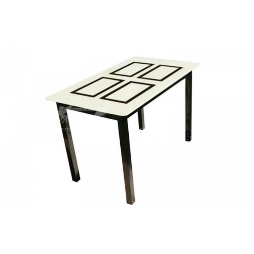 """Стол стеклянный на деревянных ногах """"Монарх Бридж"""" Sentenzo"""