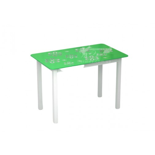 """Стол стеклянный на деревянных ногах """"Монарх Букет"""" Sentenzo"""