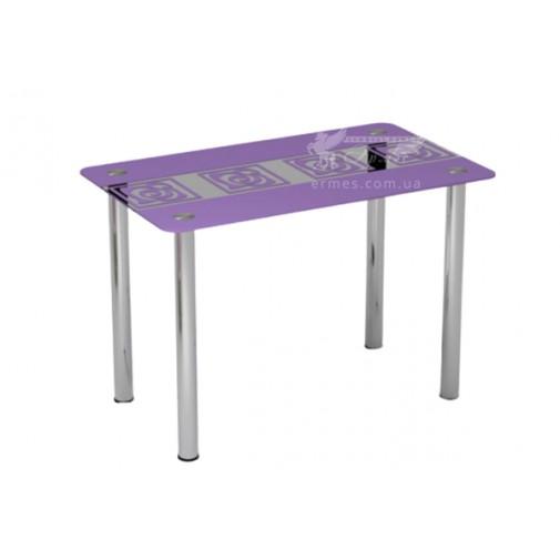 """Стол стеклянный """"Виолетта"""" Sentenzo (на хромированных ножках)"""