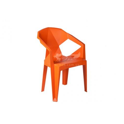 Кресло пластиковое Muzе mandarin plastic Е0666 Special4You (для кафе и баров)