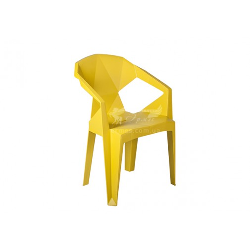 Кресло пластиковое Muzе mustard plastic Е0673 Special4You (для летних кафе)