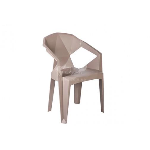 Кресло пластиковое Muzе taupе plastic Е0659 Special4You (для летних кафе)