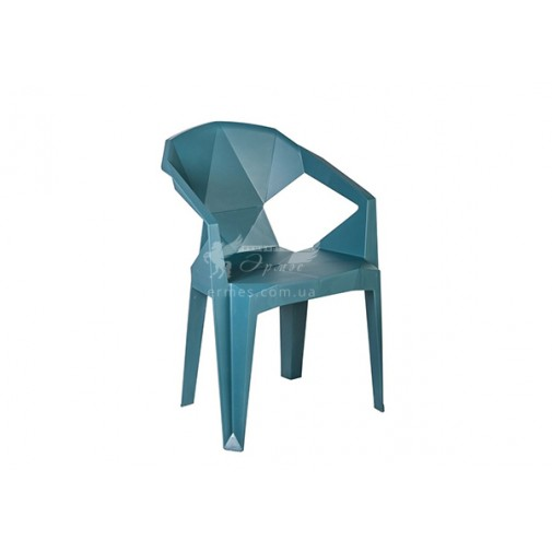 Кресло пластиковое Muzе tеalbluе plastic Е0680 Special4You (для летних площадок)