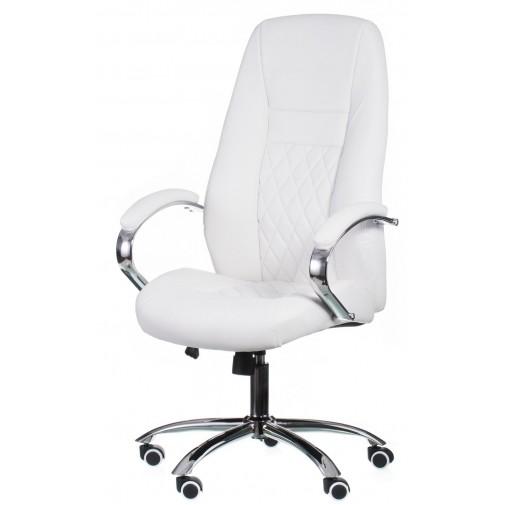 Кресло руководителя Alize white E0406 Special4You (белый на хромированной опоре)