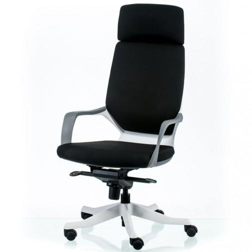 Кресло руководителя  Apollo black/white E5425 Special4You (с подлокотниками на колесиках)