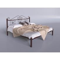 """Кровать металлическая """"Бегония"""" Tenero (с высоким декорированным изголовьем)"""
