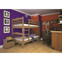 Ліжко ТИС Трансформер 2 Дуб (дерев'яне з бортом)