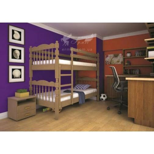 Ліжко ТИС Трансформер 2 Бук(дерев'яне з бортом)