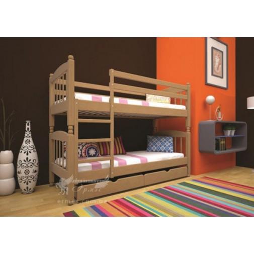 Ліжко ТИС Трансформер 3 Дуб (дерев'яне з бортиком)