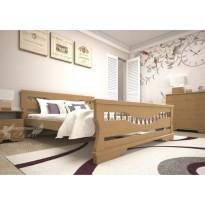Кровать ТИС АТЛАНТ 10 Сосна (деревянная с высоким подголовником)