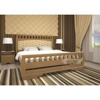 Ліжко ТИС АТЛАНТ 11 Сосна (дерев'яне з м'яким підголівніком)