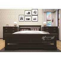 Кровать ТИС АТЛАНТ 13 Сосна (из дерева, размеры на выбор)