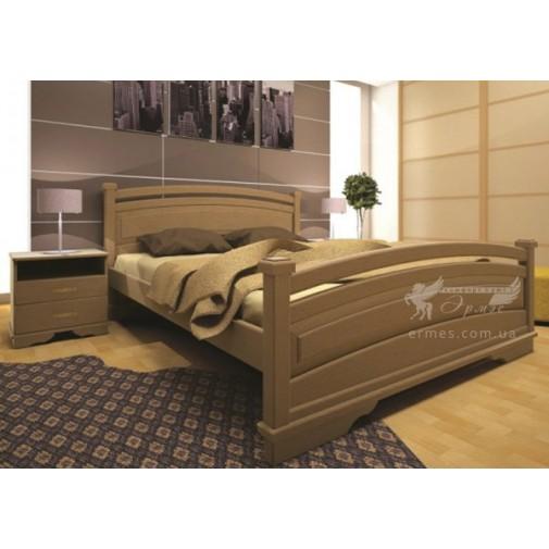 Кровать ТИС АТЛАНТ 20 Сосна (деревянная, с высоким изголовьем)