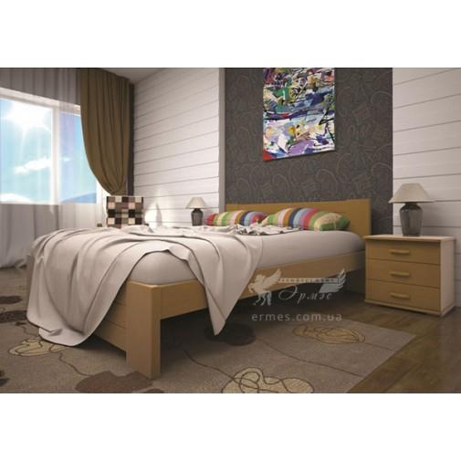 Ліжко ТИС Ізабелла 3 Бук (дерев'яне без ізножья)