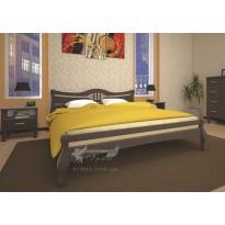 Кровать ТИС КОРОНА 1 Бук (деревянная с высоким изголовьем)
