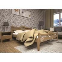Кровать ТИС КОРОНА 2 Сосна (деревянная с высоким подголовником)