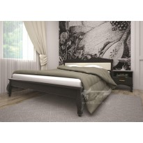 Кровать ТИС КОРОНА 3 Сосна (деревянная с мягким изголовьем)