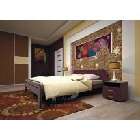 Ліжко ТИС НОВЕ 1Сосна (дерев'яне з низьким узголів'ям)