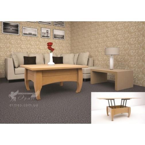 Журнальный стол ТИС Трансформер 2 дуб (деревянный кофейный)