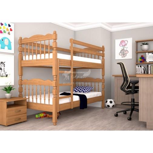 Ліжко ТИС Трансформер 2 Сосна (дерев'яне зі сходами)