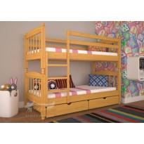 Ліжко ТИС Трансформер 3 Бук (дерев'яне з шухлядами)
