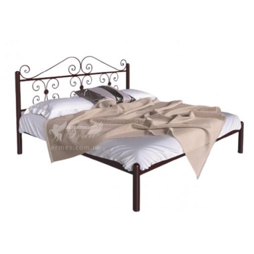 """Ліжко металева """"Бегонія"""" Tenero (з високим декорованім узголів'ям)"""