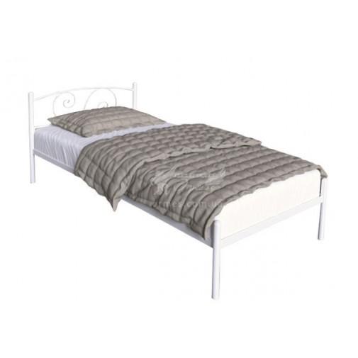 """Ліжко металева """"Віола Міні"""" Tenero (біла, односпальне ліжко)"""